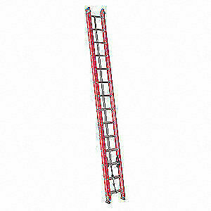 WESTWARD Extension Ladder,Fiberglass,25 ft., IA, 44YY49