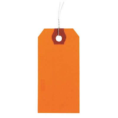 GRAINGER APPROVED Wire Tag,Paper,Blank,PK1000, 1GYY7, Orange
