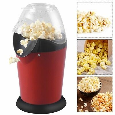 220V Popcorn Machine Maker Small Tabletop Home Party Snack House Red 1200W