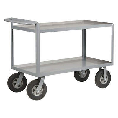 GRAINGER APPROVED Utility Cart,Steel,54 Lx24 W,1500 lb., 5CHA0, Gray