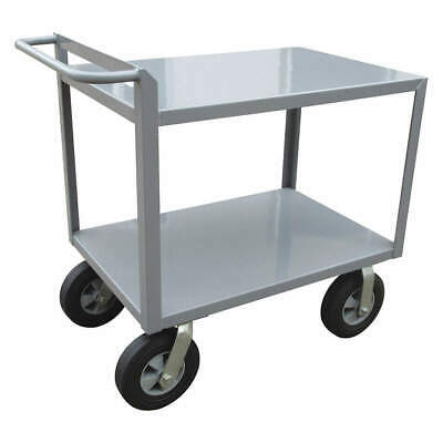 GRAINGER APPROVED Utility Cart,Steel,42 Lx24 W,1500 lb., 5CHA3, Gray
