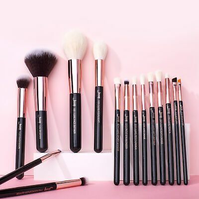 AU Jessup Professional Makeup Brushes Set Cosmetic Foundation Powder Brow  15Pcs