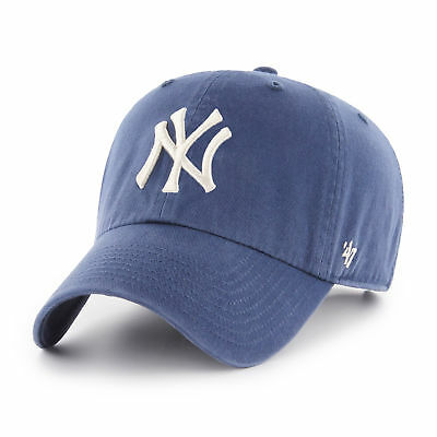 47 BRAND MLB New York Yankees Clean Up Cap Timber Blue BNWT