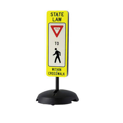 "TAPCO Traffic Sign with Base,36""H,12""W,Al, 373-03140B"