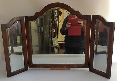 Antique 3 Section Folding Dresser Mirror