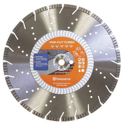 "HUSQVARNA Diamond Saw Blade,Demolition,14"" dia., Vari-Cut Turbo 14"
