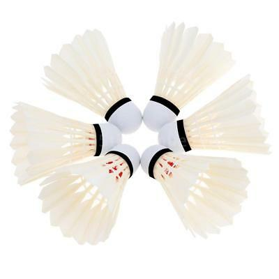 12pcs Training Competition Goose Feather Badminton Shuttlecocks Outdoor S0O0