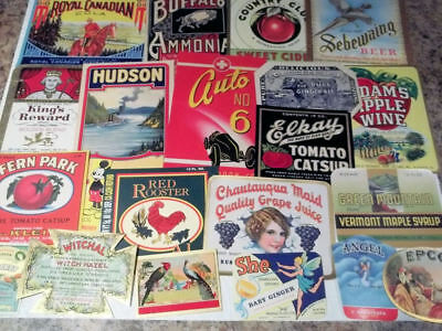 70 Different Vintage Small product labels....All Nice...