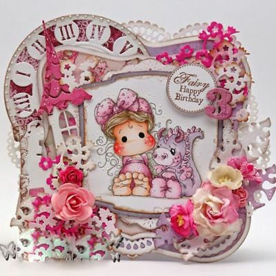 Crafts Decorative Transparent Stamp Scrapbooking Lovely Girl Silicone Rubber