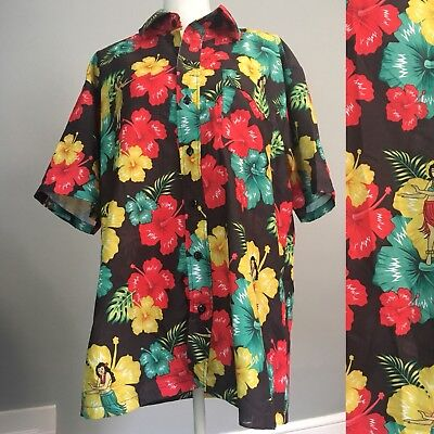 Vintage 90s Ace Ventura Pet Detective Hawaiian Shirt Large