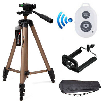 Professional Camera Tripod Stand Mount Holder For IPhone Samsung Cell Phone+Bag