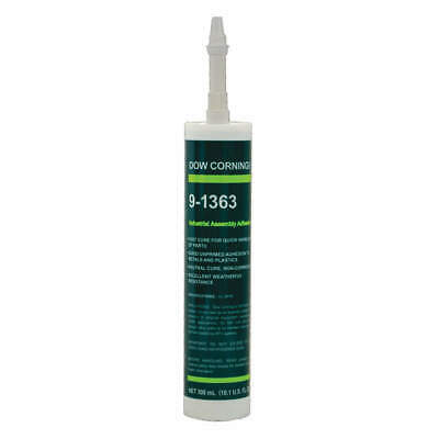 DOW CORNING Adhesive,300mL,Black,24 hr. Curing, 4001703, Black