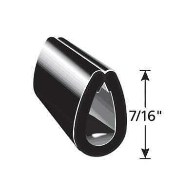 TRIM LOK INC Vinyl Edge Guard Black,7/16 In. L,250 Ft., EGB7/16-250, Black