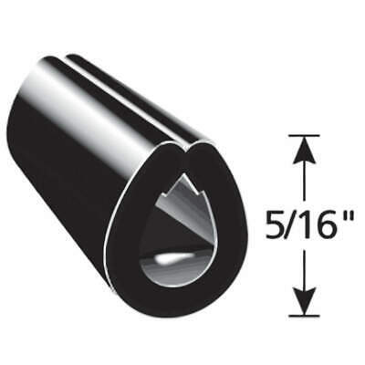 TRIM LOK INC Vinyl Edge Guard Black,5/16 In. L,250 Ft., EGB-250, Black