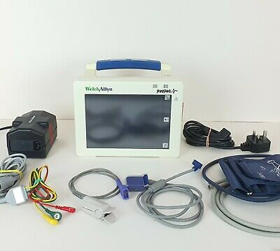 Welch Allyn Propaq CS 242 Vital Signs Patient Monitor ECG SpO2 NiBP T1 T2 Touch