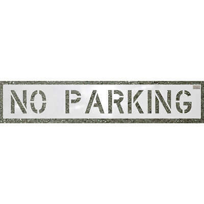 C.H. HANSO Low Density Polyethylene Stencil,No Parking,30 x 46 In., 70002, White