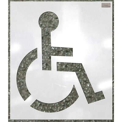 C.H. HANSON Low Density Polyethylene Stencil,Handicap,34 x 34 In., 70342, White