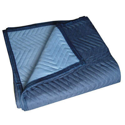 GRAINGER APPROVED Nonwoven Quilted Moving Pad,L72xW80In,Blue,PK12, 2NKR7, Blue