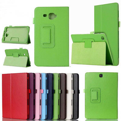 Leather Flip Open Folio Tablet Stand Case Cover Back For Apple iPad/Samsung Tab