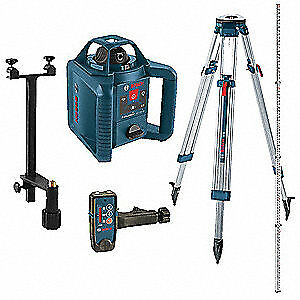 BOSCH Rotary Laser Level,Self-Leveling,800 ft., GRL 245 HVCK