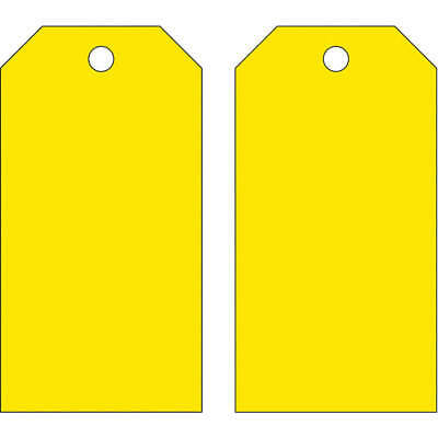 BRADY Polyester Blank Tag,5-3/4 x 3 In,Yellow,PK25, 65373, Yellow