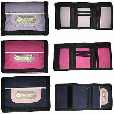 NEW Ladies Girls Womans TriFold WALLET by Hi-Tec Coin Purse Canvas Sports