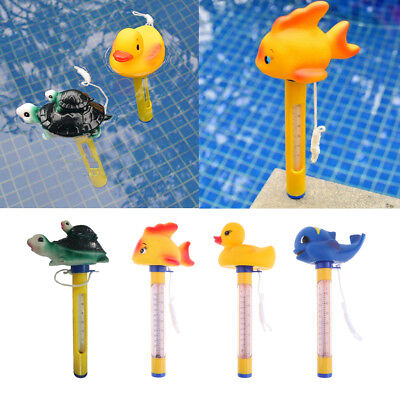 Floating Pool Thermometer Large Size with String for Pools, Hot Tub Yellow