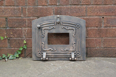 37.3 x 31.3 cm cast iron fire door clay bread oven doors pizza stove smoke house