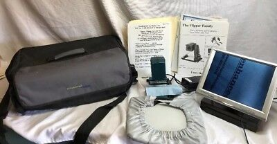 """Low Vision Portable Magnifier Flipper 10"""" Panel CCTV by Enhanced Vision"""