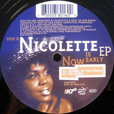 "12"": Nicolette - Now Is Early EP - !K7 Records - K7R016EP"