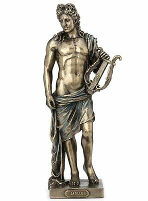 "Ancient Greek Art  Apollo God of Love And Beuty Cold Cast Bronze 10"" Statue"