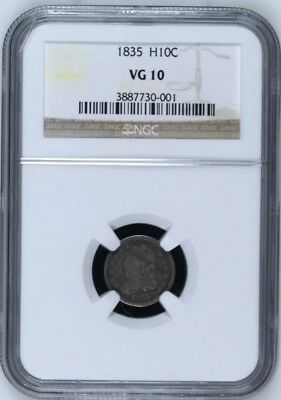 1835 H10c Capped Bust Half Dime NGC VG10 -Nice early original coin