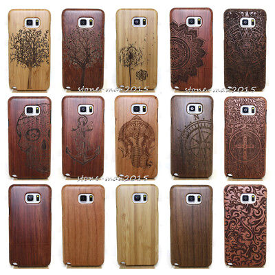 Original Carved Wood Bamboo Hard Case Back Cover For Samsung S9+Plus/S8 Plus S7