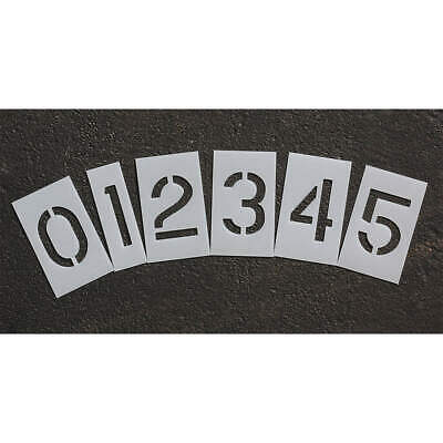 RAE Polyethylene Pavement Stencil,3 in,Number Kit,1/16, STL-116-8030, Clear
