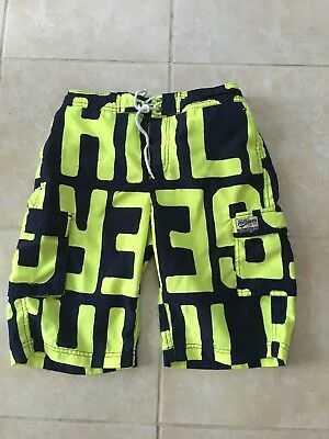 Tommy Hilfiger Boys Swimming Trunks -  Navy/Bright Yellow - Size 14