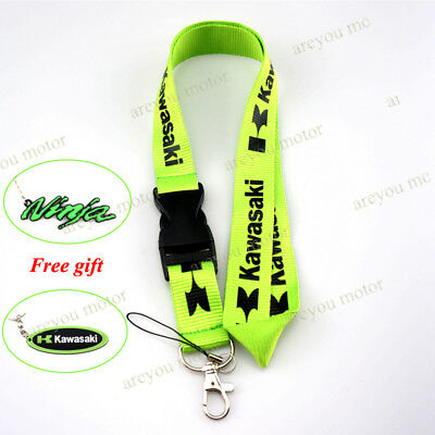 Lanyard Straps Neck Keychain Phone Card Holder For Kawasaki Z900 ZX10R Gift