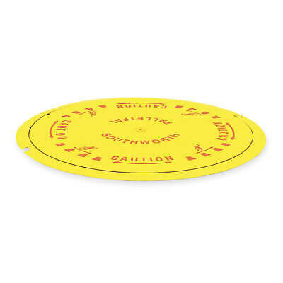 SOUTHWORTH Steel Pallet Disk Turntable,4000 lb.,Yellow, PPDT, Yellow