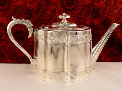 Antique Victorian Sheffield Silver Plate Teapot James Dixon and Sons England