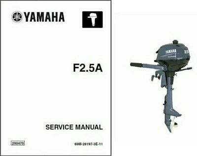 Yamaha F2.5 4-Stroke Outboard Motor Service Repair & Owner's Manual CD - 2.5 Hp