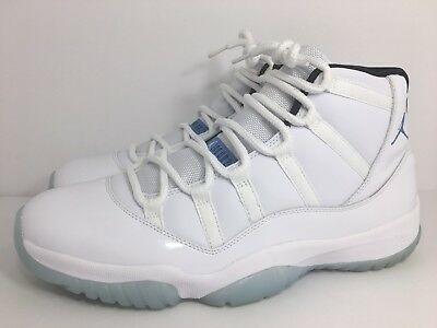 0a9fecd3093 Nike Air Jordan 11 Legend Blue White Colombia XI Retro 378037-117 Size 13 US