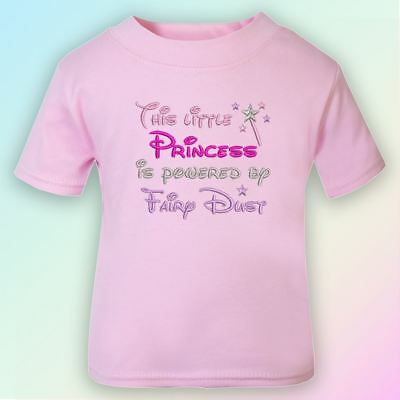Princess Powered by Fairy Dust Embroidered Baby Bib Gift Girl