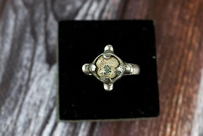 Ancient Rare Viking Ring with Stone c.9th Century A.D. Medieval Jewelry Artifact