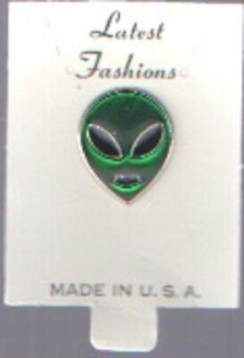 Alien Head/face Pin  Moc Made In Usa