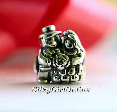 31c3e0388 AUTHENTIC PANDORA CHARM Mr And Mrs Bride And Groom 791116 - $27.50 ...