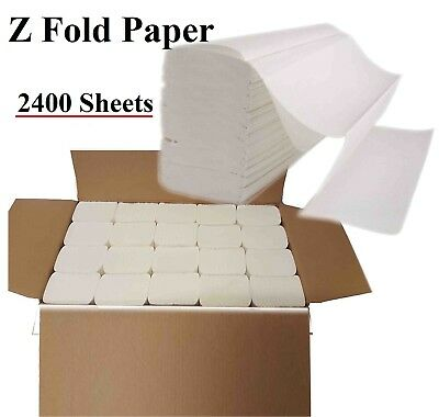 Luxury White 2ply Z Fold Paper Hand Towels MultiFold - Case of 2400 Napkins