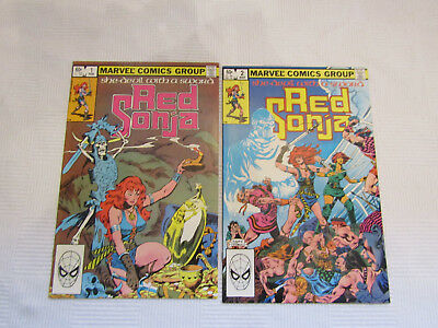 Red Sonja issues #1-2 - Marvel 1983