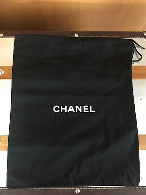 (1) Chanel Authentic Black Large Shoe Dust Bag Drawstring - 14 x 12 - New
