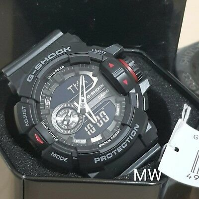 a8d559d3c1f3 CASIO G-SHOCK GA-400-1B ANALOG DIGITAL MAGNETIC RESIST BLACK RESIN WATCH