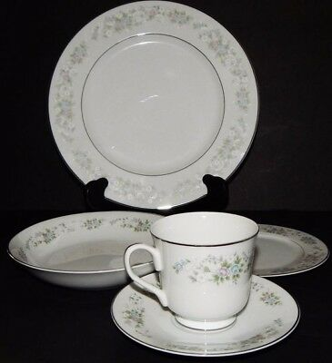 Five place setting Corsage Porcelain Dinnerware by Carlton-Japan 43 pcs