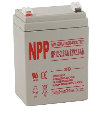 NPP   NP12-2.6Ah 12V 2.6 Ah Sealed Lead Acid Audio  Emergency Lighting Battery
